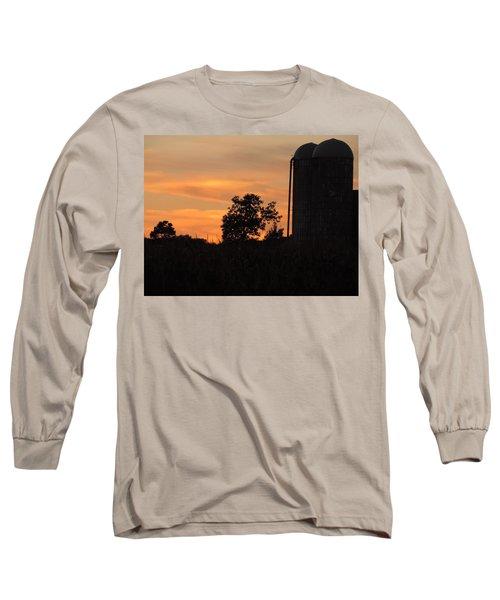 Sunset On The Farm Long Sleeve T-Shirt by Teresa Schomig