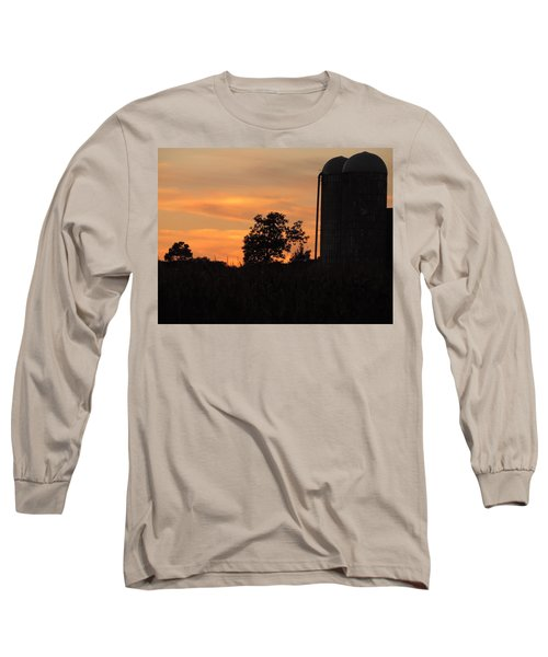 Sunset On The Farm Long Sleeve T-Shirt