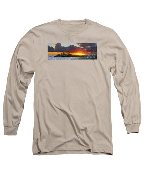 Long Sleeve T-Shirt featuring the photograph Sunset On The North Shore Of Oahu by Aloha Art