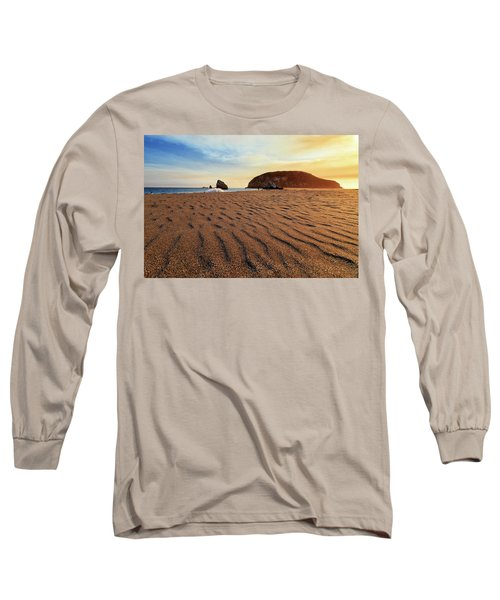 Long Sleeve T-Shirt featuring the photograph Sunset On The Sands Of Brookings by James Eddy