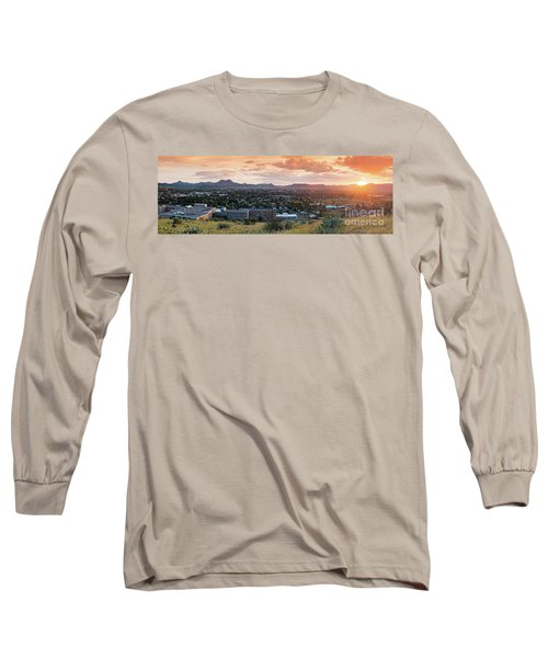 Sunset Panorama Of Alpine And Sul Ross State University - Brewster County - Far West Texas Long Sleeve T-Shirt