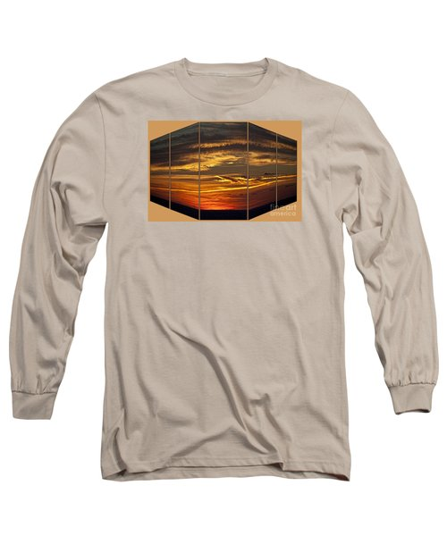 Long Sleeve T-Shirt featuring the photograph Sunset Perspective by Shirley Mangini