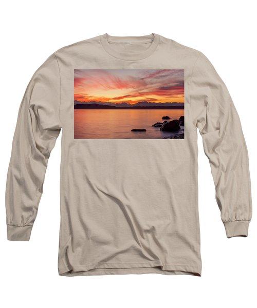 Sunset Puget Sound Long Sleeve T-Shirt