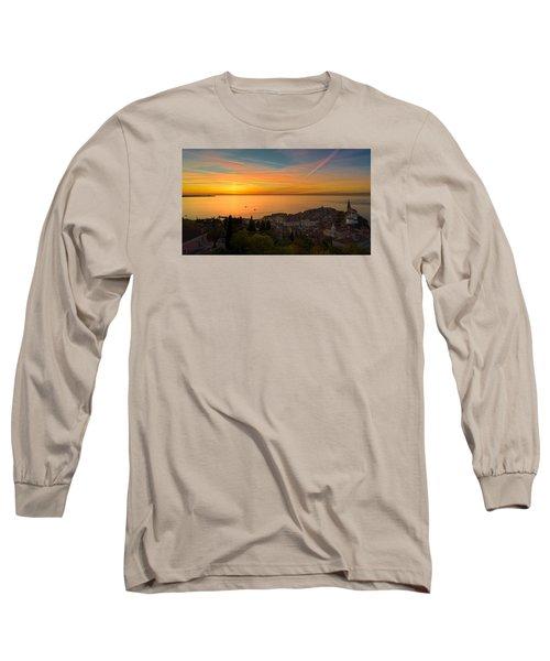 Sunset Long Sleeve T-Shirt by Robert Krajnc