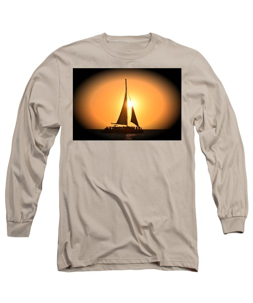 Sunset Sail Long Sleeve T-Shirt by Gary Smith