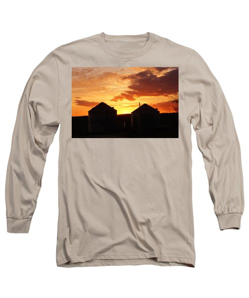 Sunset Silos Long Sleeve T-Shirt by Jana Russon