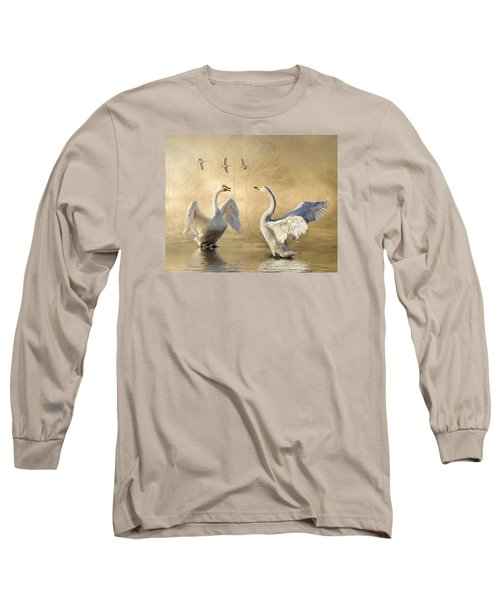 Long Sleeve T-Shirt featuring the photograph Sunset Squabble by Brian Tarr