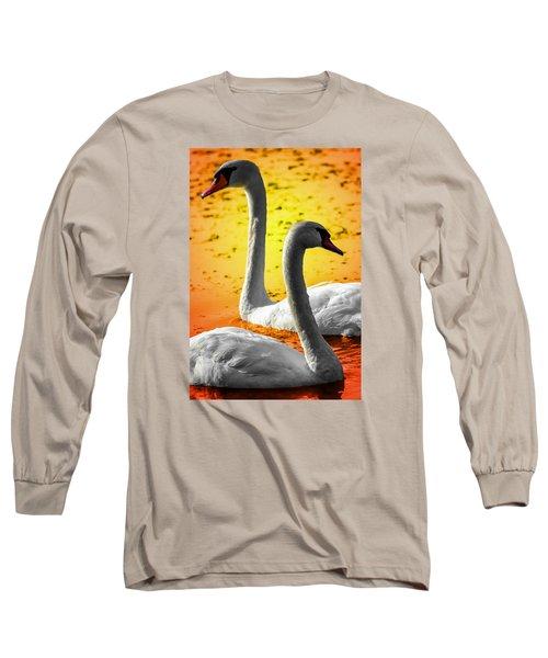 Sunset Swans 2 Long Sleeve T-Shirt