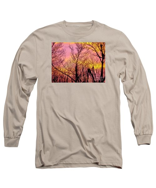 Sunset Through The Trees Long Sleeve T-Shirt