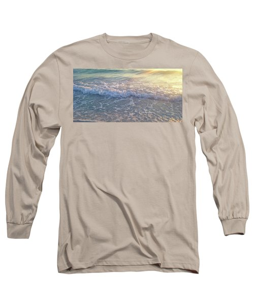 Long Sleeve T-Shirt featuring the photograph Sunset Tide by Ginny Schmidt