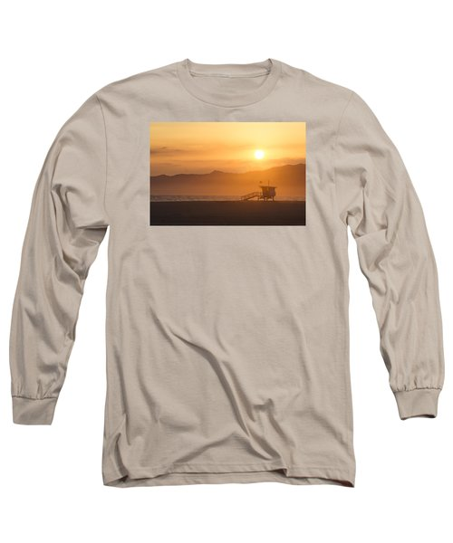 Long Sleeve T-Shirt featuring the photograph Sunset Venice Beach  by Christina Lihani