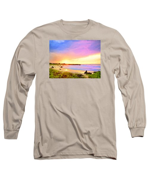 Sunset Walk Long Sleeve T-Shirt by Dominic Piperata