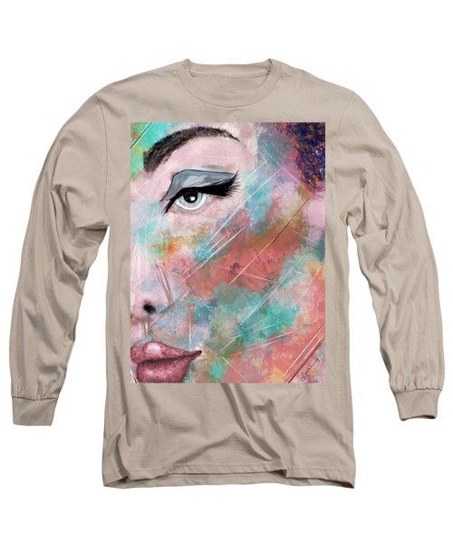 Sunset - Woman Abstract Art Long Sleeve T-Shirt