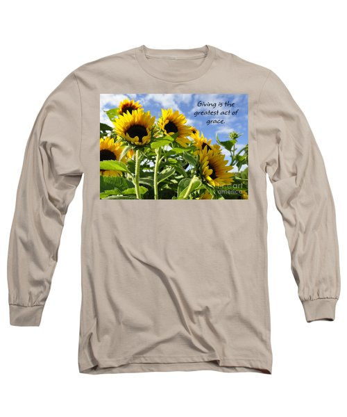 Long Sleeve T-Shirt featuring the photograph Sunshine Lollipops Grace by Diane E Berry