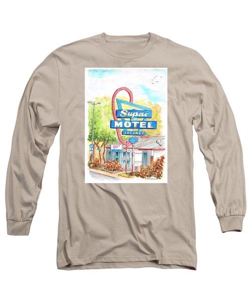 Supai Motel In Route 66, Seliman, Arizona Long Sleeve T-Shirt