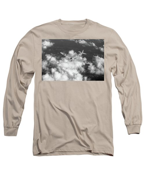 Long Sleeve T-Shirt featuring the photograph Supermarine Spitfire Prototype K5054 Black And White Version by Gary Eason