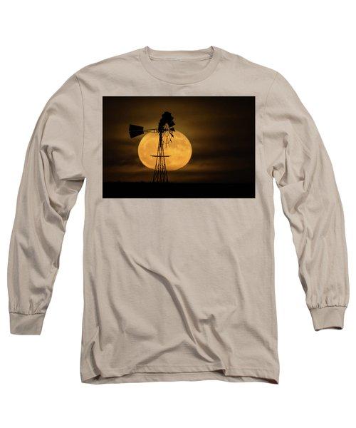 Supermoon Rise 4  11-14-2016 Long Sleeve T-Shirt by Ernie Echols
