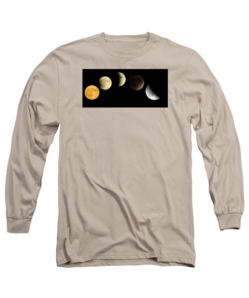 Long Sleeve T-Shirt featuring the photograph Supermoon Total Lunar Eclipse by Nikki McInnes
