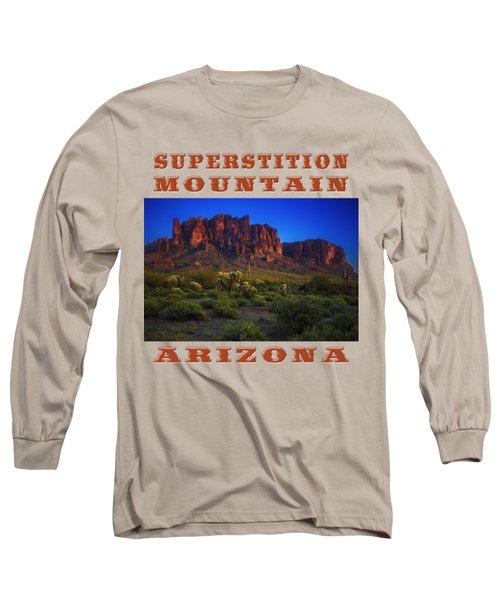 Superstition Mountain Sunset Long Sleeve T-Shirt
