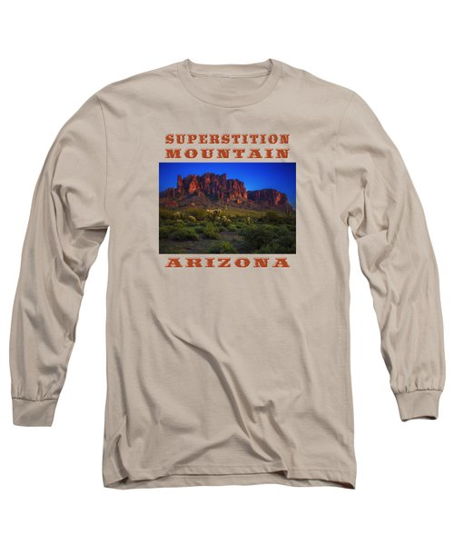 Superstition Mountain Sunset Long Sleeve T-Shirt