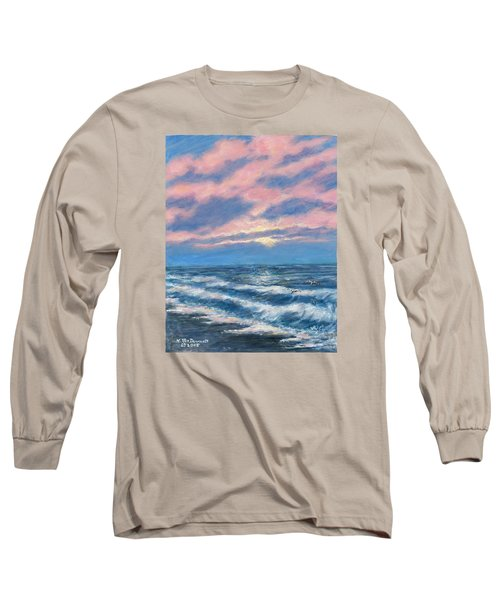 Surf And Clouds Long Sleeve T-Shirt by Kathleen McDermott