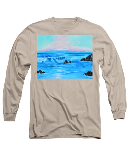 Surf At Sunset  Long Sleeve T-Shirt