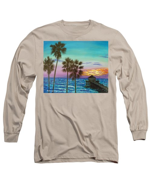 Surf City Sunset Long Sleeve T-Shirt