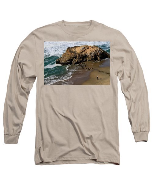 Surf Fishing At Ocean Beach Long Sleeve T-Shirt