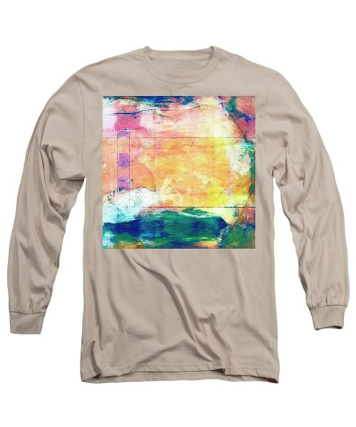 Long Sleeve T-Shirt featuring the painting Surface Vector by Dominic Piperata