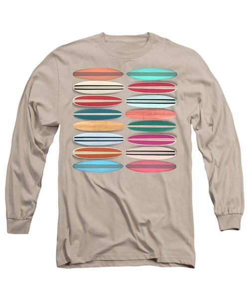 Surfboard Pattern Square Long Sleeve T-Shirt
