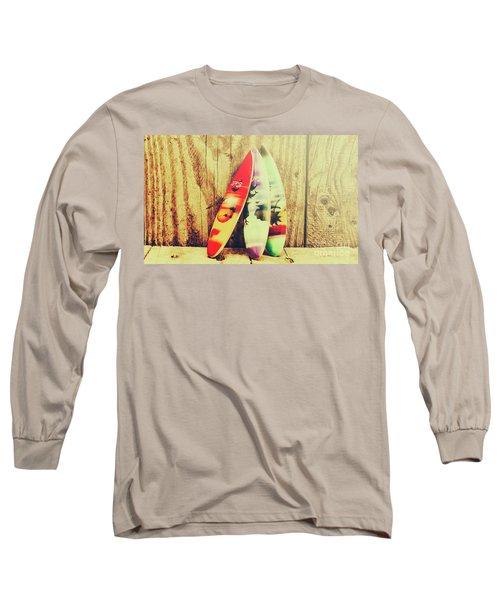 Surfing Still Life Artwork Long Sleeve T-Shirt