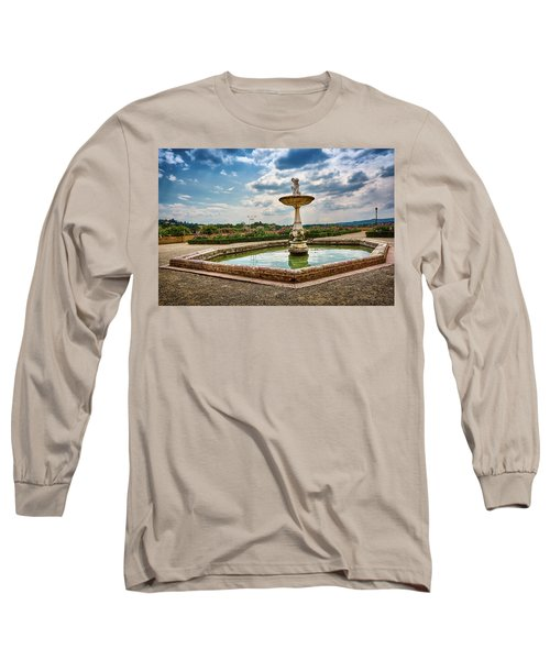 The Monkeys Fountain At The Gardens Of The Knight In Florence, Italy Long Sleeve T-Shirt