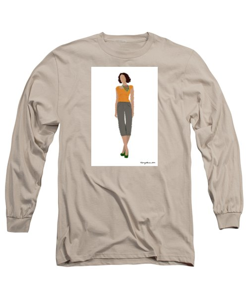 Long Sleeve T-Shirt featuring the digital art Susan by Nancy Levan