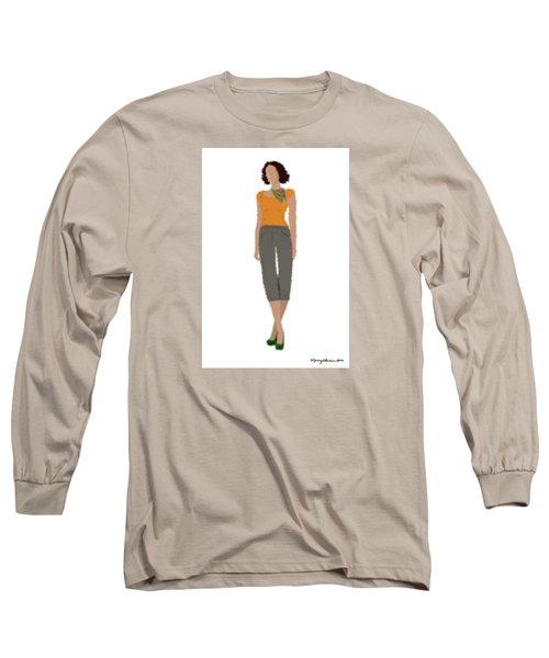 Long Sleeve T-Shirt featuring the digital art Susan by Nancy Levan