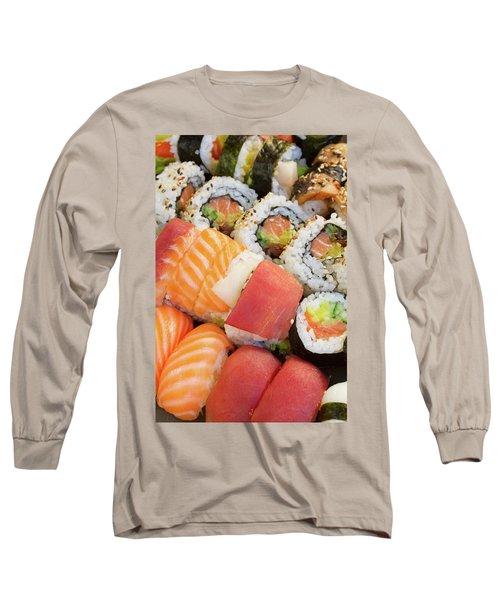 Sushi Dish Long Sleeve T-Shirt by Anastasy Yarmolovich