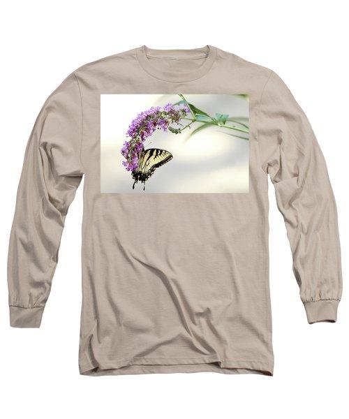 Swallowtail On Purple Flower Long Sleeve T-Shirt