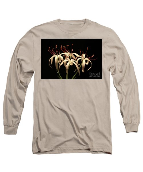 Swamp Lily Long Sleeve T-Shirt by Meg Rousher