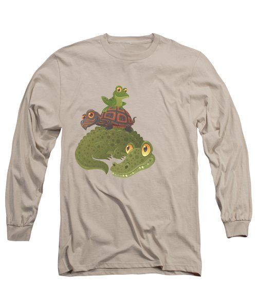 Swamp Squad Long Sleeve T-Shirt by John Schwegel