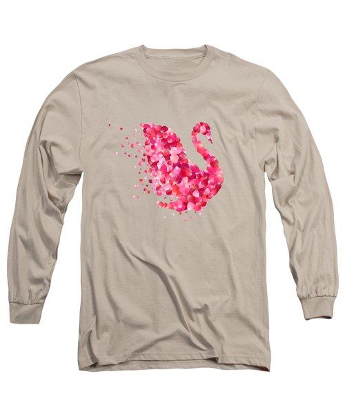 Swan Long Sleeve T-Shirt by Aloke Creative Store