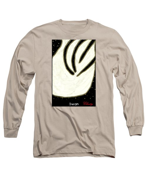 Long Sleeve T-Shirt featuring the painting Swan by Clarity Artists