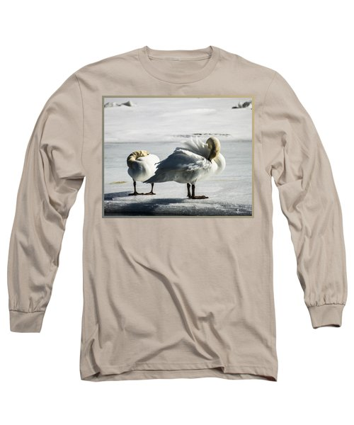 Swans On Ice Long Sleeve T-Shirt