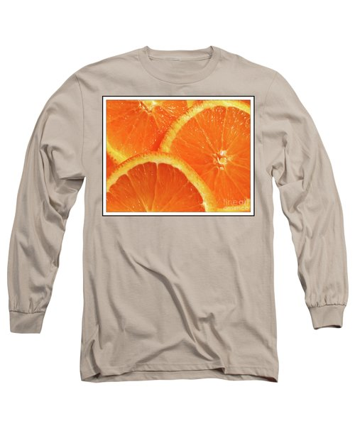 Sweet And Juicy Long Sleeve T-Shirt by Mariarosa Rockefeller