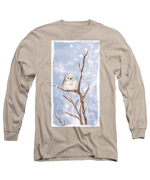 Long Sleeve T-Shirt featuring the painting Sweet Cold by Veronica Minozzi