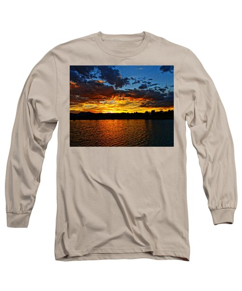 Sweet End Of Day Long Sleeve T-Shirt by Eric Dee