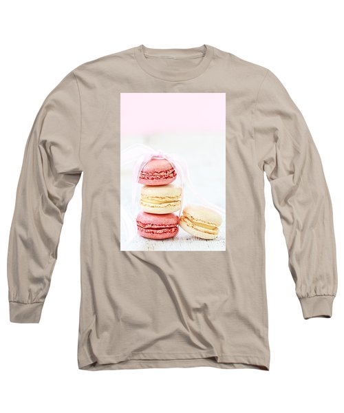 Sweet French Macarons Long Sleeve T-Shirt by Stephanie Frey
