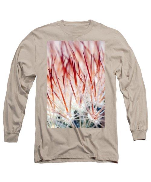 Sweet Gentle Pink Blooming Cacti Long Sleeve T-Shirt