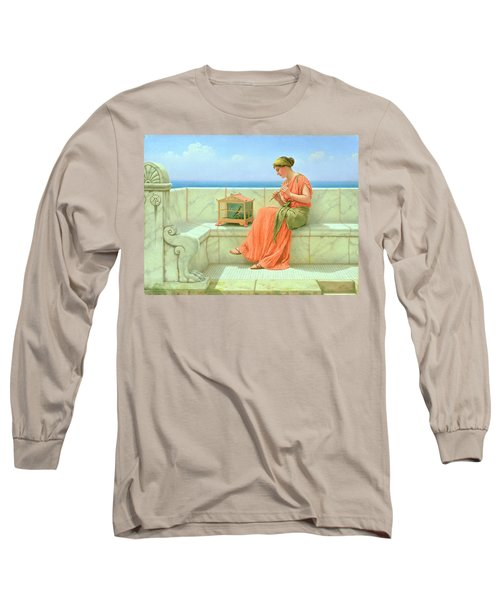 Sweet Sounds Long Sleeve T-Shirt by John William Godward