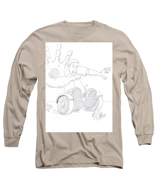 Swegway Hoverboard Emergency Stop Cartoon Long Sleeve T-Shirt