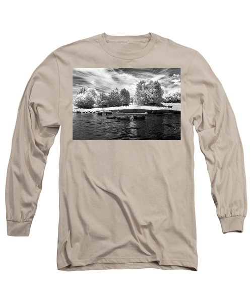 Swimming With Cows II Long Sleeve T-Shirt