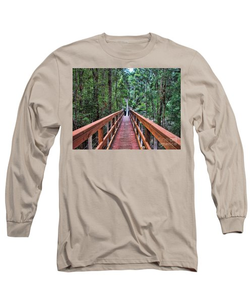 Long Sleeve T-Shirt featuring the photograph Swing Bridge by Trena Mara